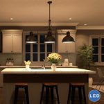 Wonderful Image of Lighting Fixtures Over Kitchen Island - Interior Design Ideas & Home Decorating Inspiration - moercar