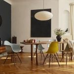 Wood Table Eames Plastic Side Chair DSW #Eames Palstic Armchiar DAW #shellspotti...