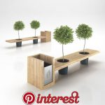 Wooden Eco Design Bench with Integrated Trash Bin 3D Model .max .obj .3ds .c4d |...