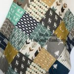 Woodland Baby Quilt, Crib Bedding Boy, Woodland Crib Quilt, Navy Blue Crib Bedding, Baby Bedding Woodland, Throw Quilt Blanket, The Lodge