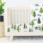 Woodland Trees Crib Set | Woodland Trees Crib Bedding | Green Woodland Trees Baby Bedding | Woodland Baby Boy Nursery