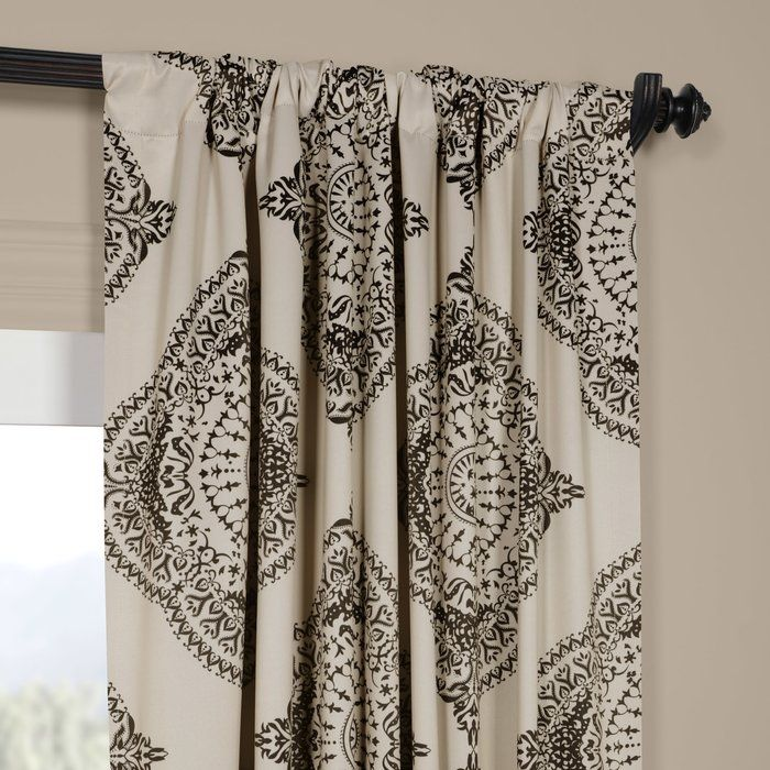 Wyndmoor Geometric Blackout Rod Pocket Single Curtain Panel
