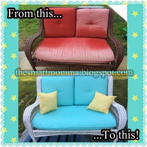 Yes, you can paint patio cushions! My patio furniture was dull and boring.  I p…