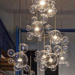 Yiilighting Bolle Soap Bubble Glass LED Pendant Light Dimmable Pendant