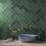 Zellige Nouveau Emerald Green Metro Matt Ceramic Tile