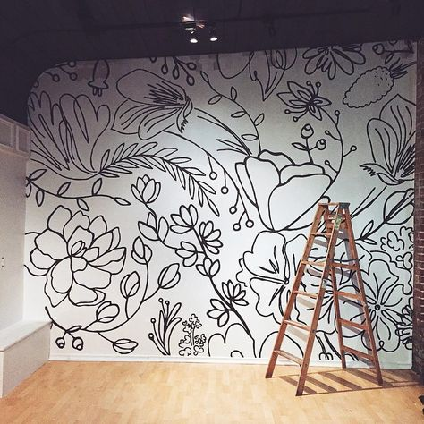 """bespoke floral + event styling on Instagram: """"finished our wall project today & it's safe to say we probably will be taking a break from using sharpie markers for a while! #weareworkshop"""""""