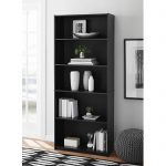 black wood bookcase adjustable 5 shelf wood bookcase storage shelving book wide bookshelf XBSSIBO - Home Decor Ideas