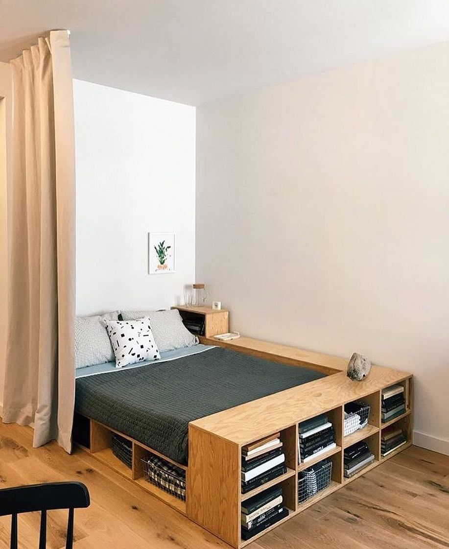 "db – design bunker on Instagram: ""Bed with storage found on @ideiasdiferentes via dbarchitect.com #bed #bedroom #interior #interiors #interiordesign #interiordesigner…"""