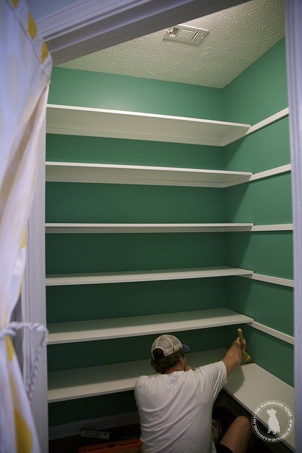 how to build pantry shelves – easy step by step tutorial