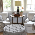 ideal arrangement for the two similar style chairs and antique twisted barley dr...