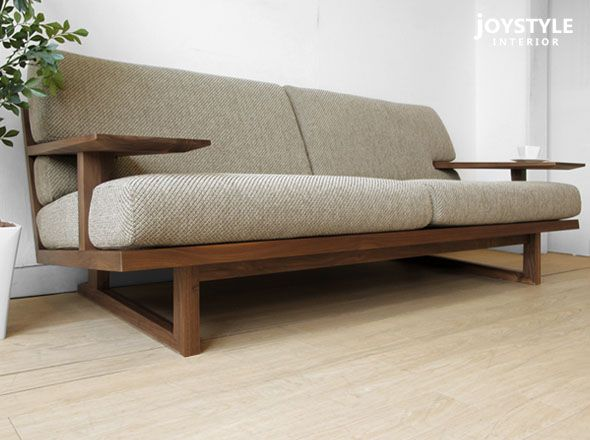 joystyle-interior: Full sofa wooden sofa – 3P sofa – SPOKE-LS-WN to cover of the…