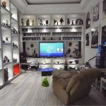minimalist-white-video-game-rooms-with-hack-organizer