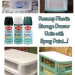 ('revamp plastic storage drawer units with spray paint...!')