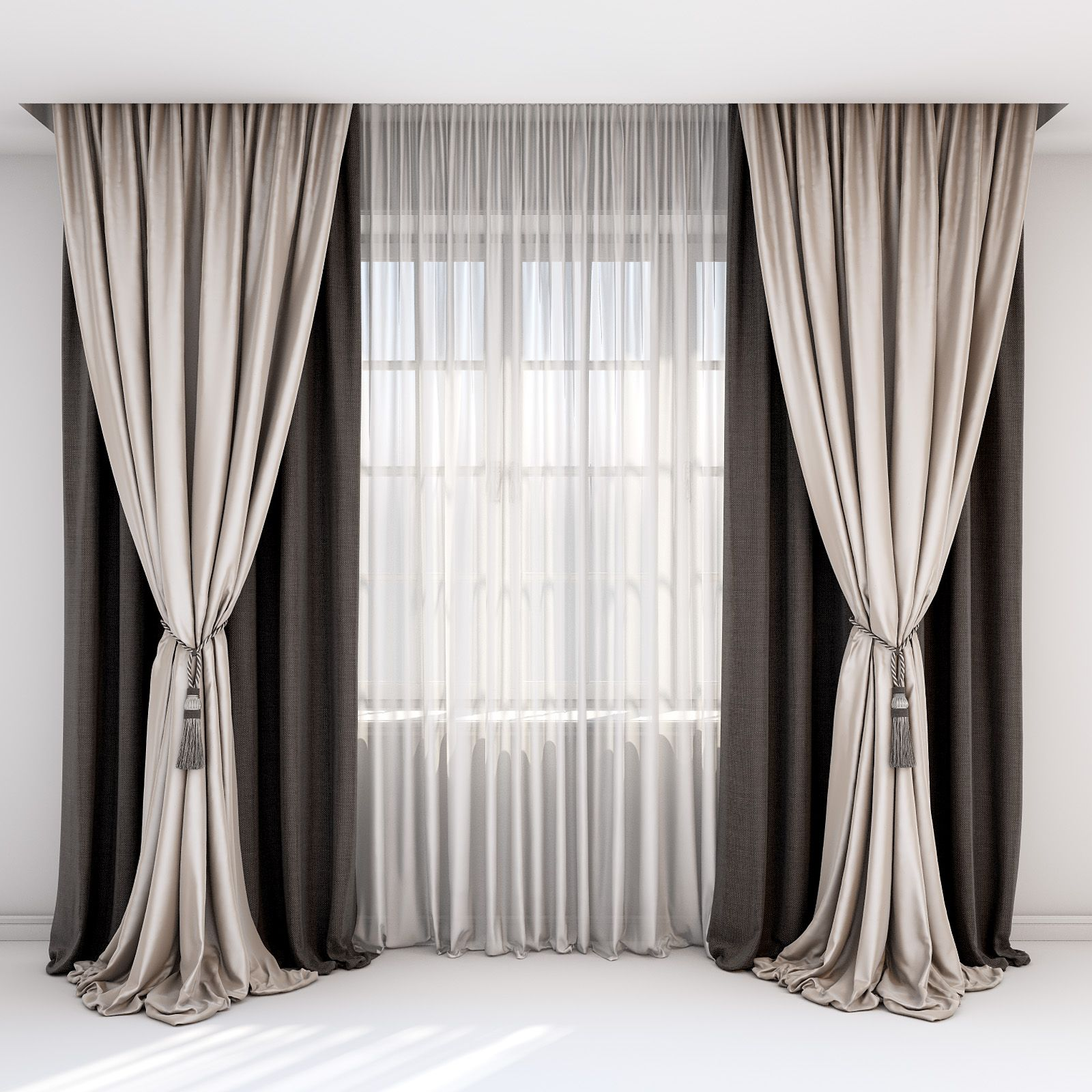 rown and beige curtains, Roman blind and window #curtains, #beige, #rown, #windo…