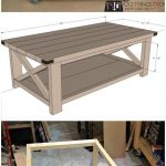 table basse diy rustic x 2 - Wood Design
