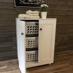 triple tilt out laundry hamper beautiful (3REG-LAU-white)