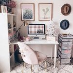 workplace design, home office ideas, small desk ideas, chic home office ideas, s...