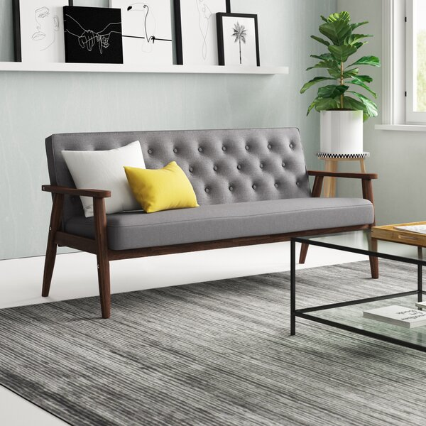 Zipcode Design Zoee 3 Seater Sofa & Reviews   Wayfa