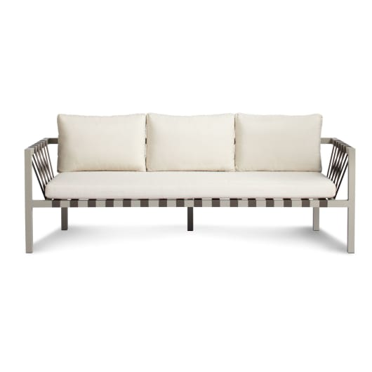 Jibe Outdoor 3 Seat Sofa - Modern Outdoor Sofas   Blu D