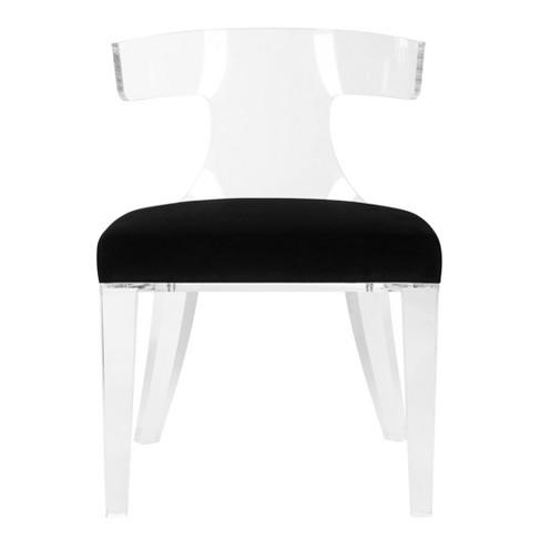 Rhys Acrylic Dining Chair Black/Clear - Safavieh : Targ