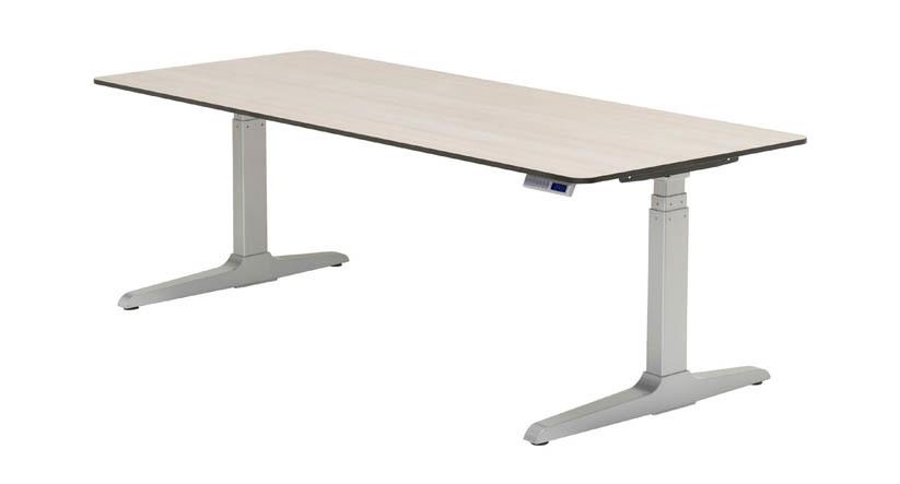 Adjustable height desk with narrow standing desk with sit stand .