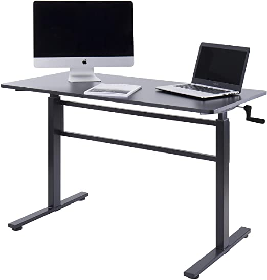 Amazon.com: UNICOO - Crank Adjustable Height Standing Desk, Height .