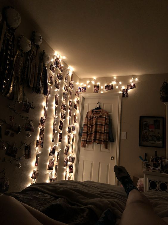 wall lights | Grunge bedroom, Aesthetic bedro