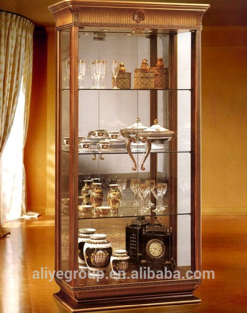 Aas92900-antique Furniture Living Room Wooden Glass Showcase - Buy .