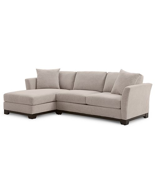 "Furniture Elliot II 107"" 2-Pc. Fabric Chaise Sectional Apartment ."