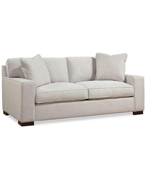 """Furniture CLOSEOUT! Bangor 81"""" Fabric Apartment Sofa, Created for ."""