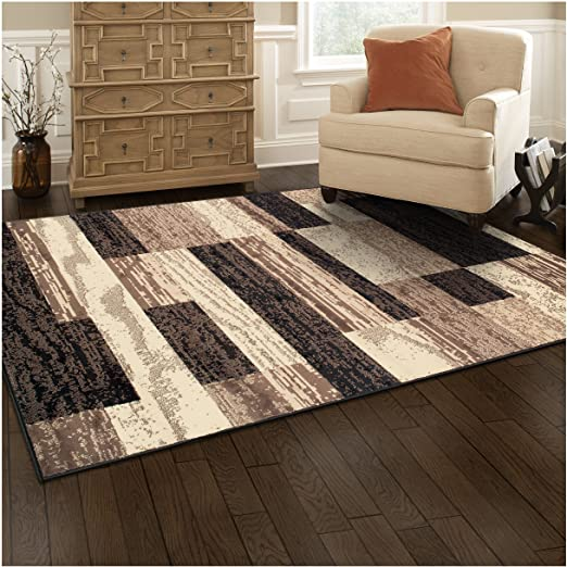 Amazon.com: Superior Modern Rockwood Collection Area Rug, 8mm Pile .