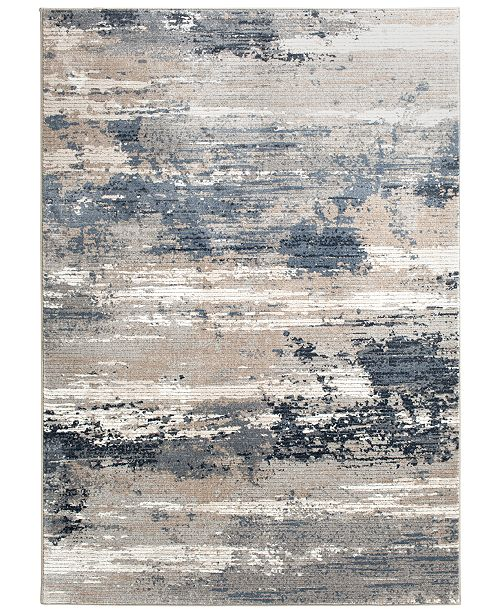 "KM Home Waterside Tide 5'3"" x 7'7"" Area Rug & Reviews - Rugs - Macy"