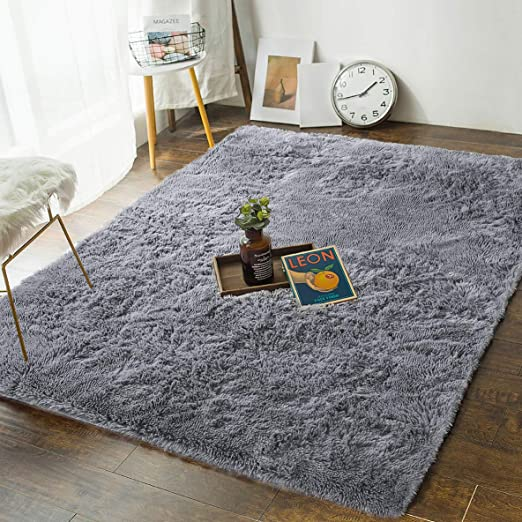 Amazon.com: Andecor Soft Bedroom Rugs - 4' x 6' Shaggy Floor Area .