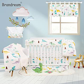 Amazon.com : Brandream Dinosaur Crib Bedding Sets with Crib Wrap .