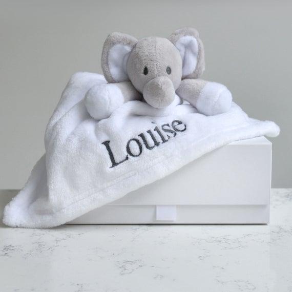 Personalised Elephant Baby Comforter | Et