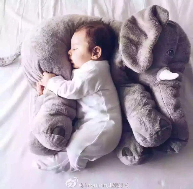 New Arrival Super Soft Stuffed Elephant Baby Comforter Plush .