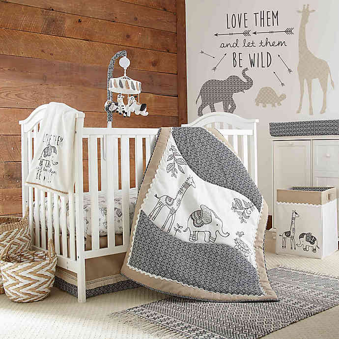 LevtexBaby® Animal Sketch 4-Piece Crib Bedding Set | buybuy BA