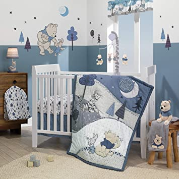 Amazon.com : Lambs & Ivy Forever Pooh 3Piece Baby Crib Bedding Set .