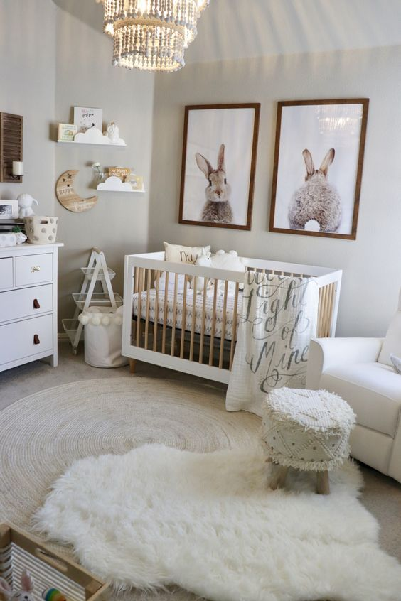 Classic Baby Girl Nursery | Baby room decor, Guest bedroom decor .