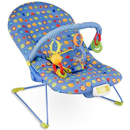 Costzon Baby Rocker Chair, Adjustable Reclining Chair with Music .
