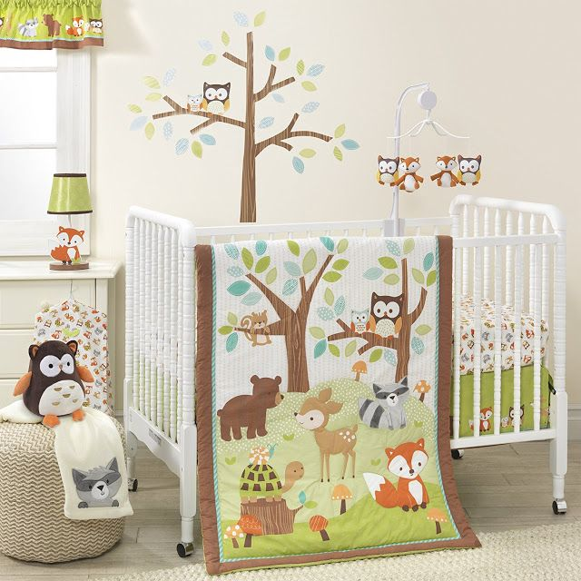 Woodland Animal Baby Room Ideas | Baby crib bedding sets, Nursery .