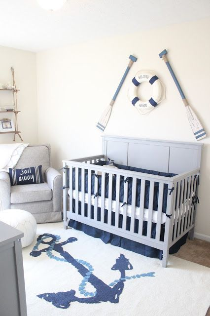 Baby #2's Nautical Nursery | Nursery room boy, Baby room themes .