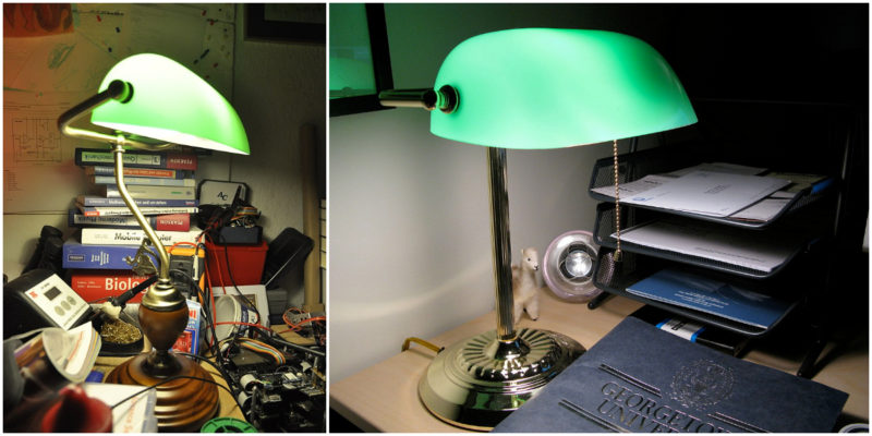 The Banker's lamp: Green desk lamps with an iconic design - Walls .