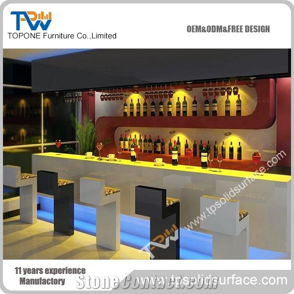 Outdoor Illuminated Led Used Coffee Bar Counter from China .