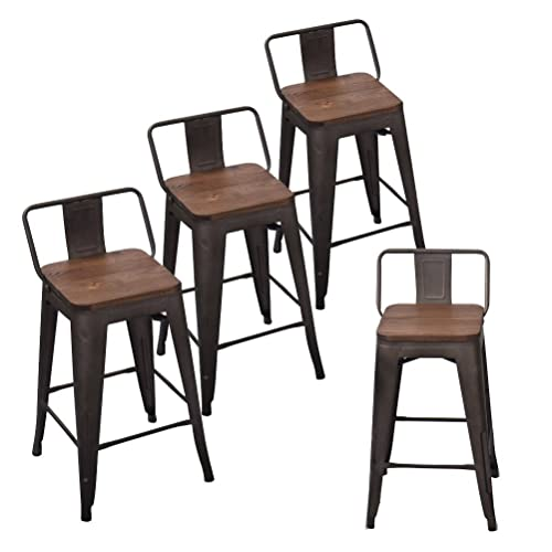 Counter Height Industrial Stools with Backs: Amazon.c