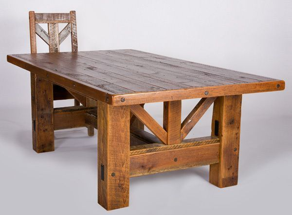 Barnwood Furniture Plans | How To build a Easy DIY Woodworking .