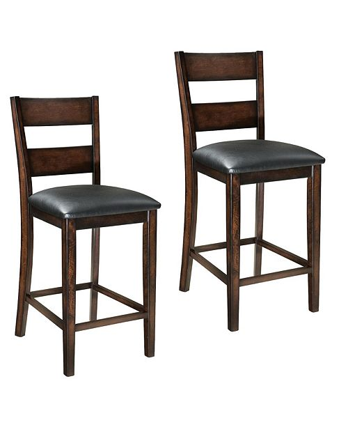Furniture Pendwood 2-Pack Upholstered Barstools & Reviews .