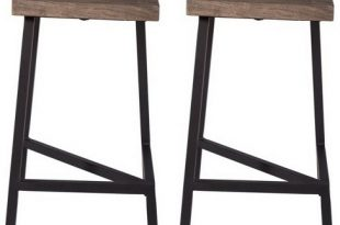 Set Of 2 Tundra Counter Height Barstools Gray - Treasure Trove .