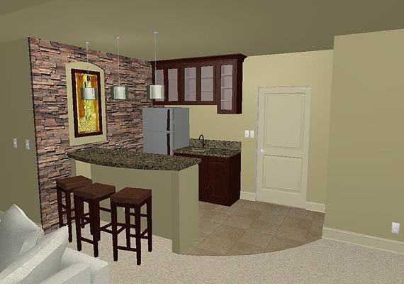 Small basement bar | Small basement bars, Basement remodeling .