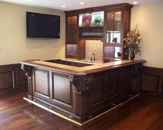 small corner basement bar..love it | Basement b